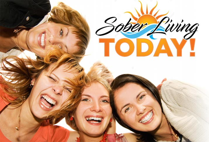 sober living happy-women